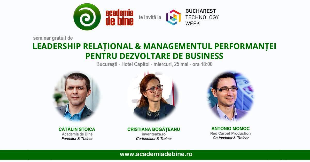 Training pentru dezvoltarea afacerii tale, la Bucharest Technology Week
