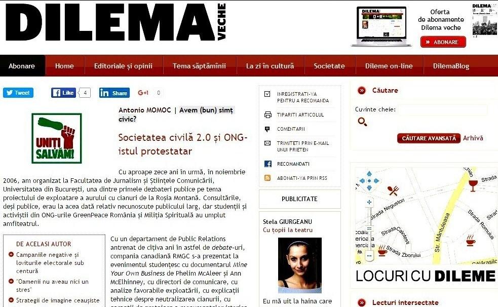 Societatea civila 2.0 si ONG-istul protestatar