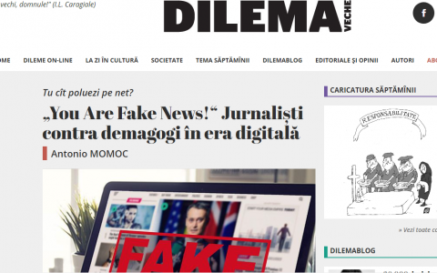 """You Are Fake News!"" Jurnaliști contra demagogi în era digitală"