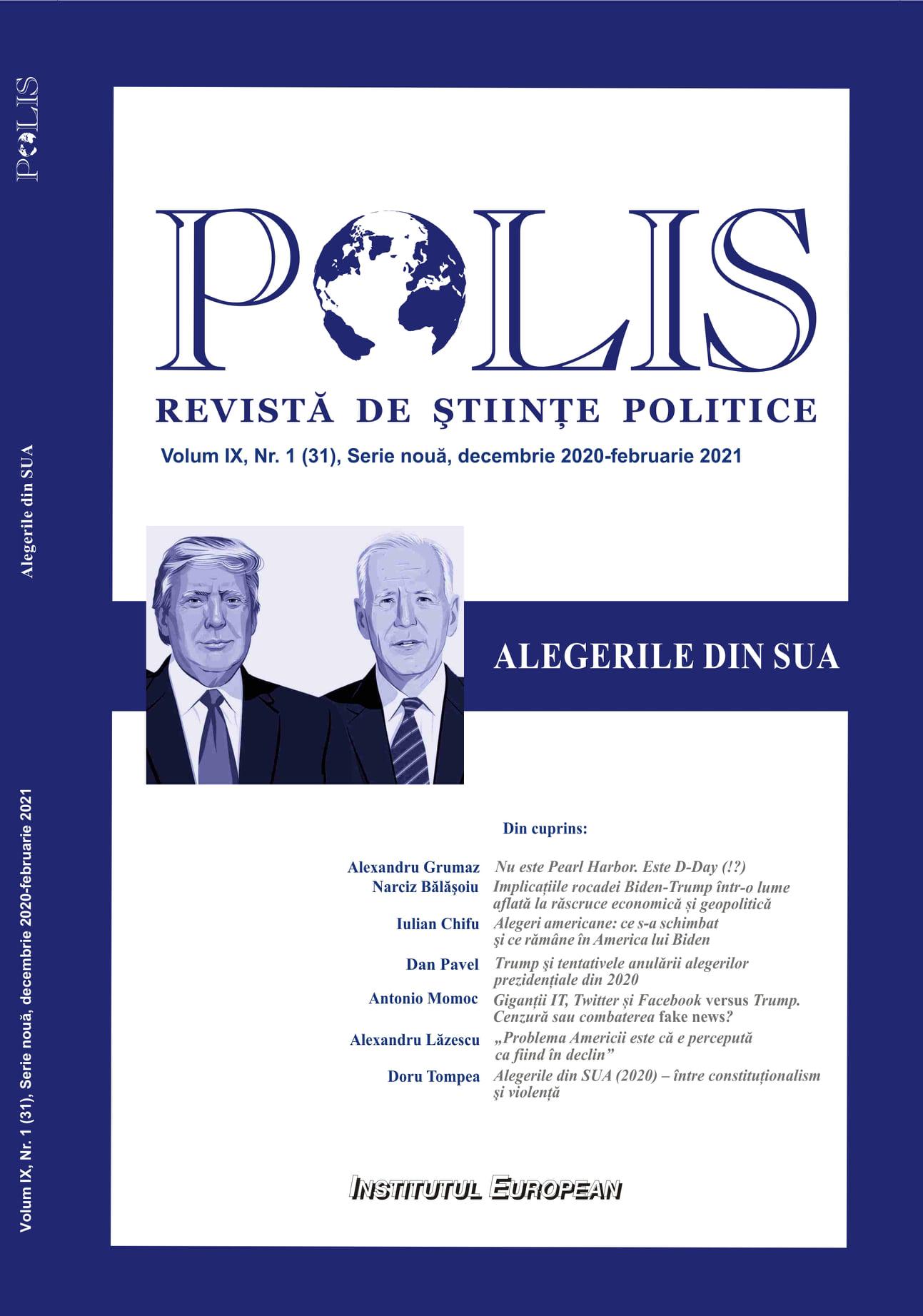 """""""Alegerile din SUA"""" în Polis: platformele digitale, Twitter & Facebook, contra Trump"""