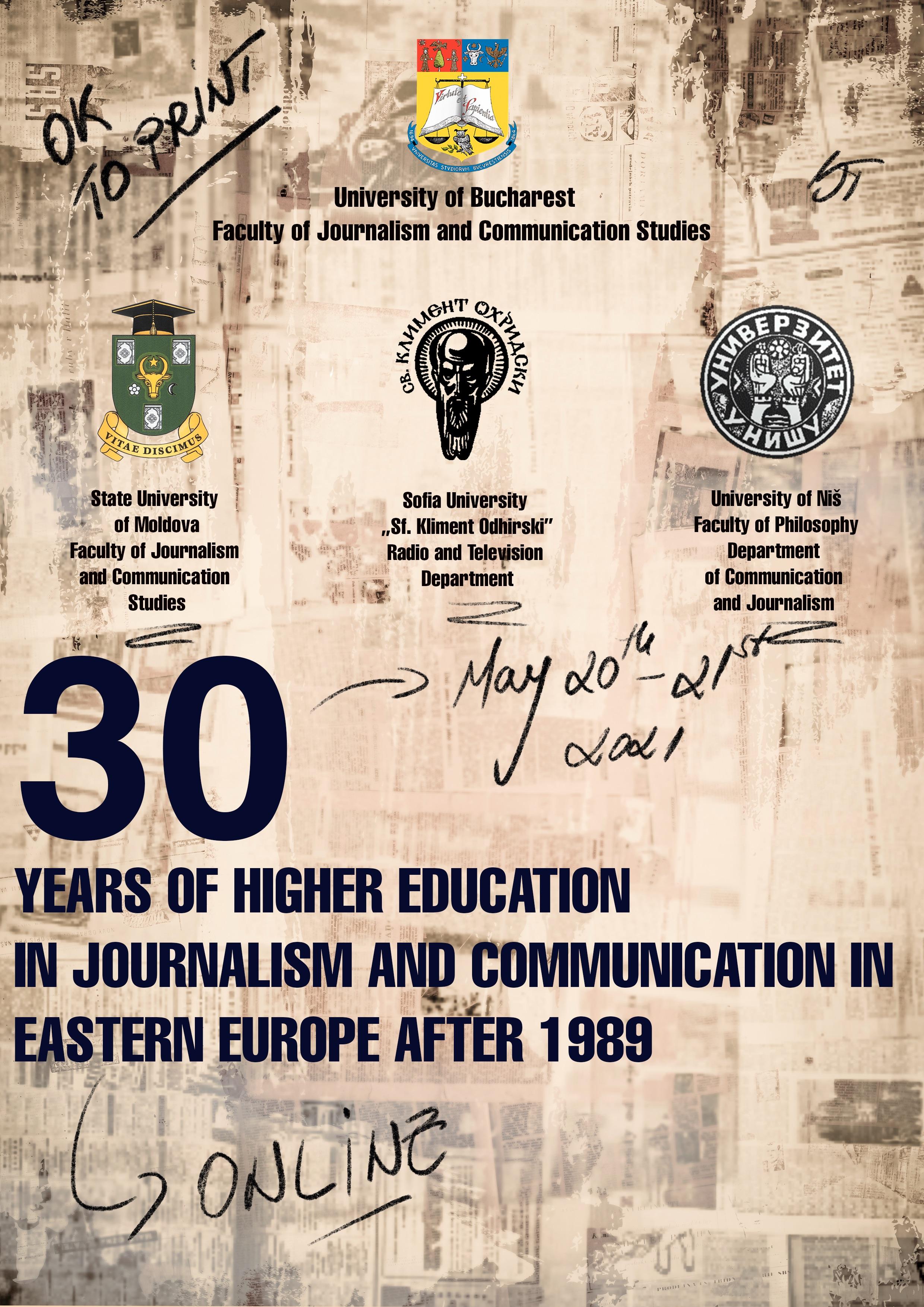 30 de ani de învăţământ jurnalistic în fostele ţări comuniste din estul Europei